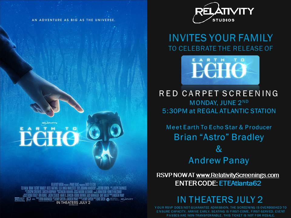 Movie Giveaway Tons of Passes to EARTH TO ECHOs Red Carpet