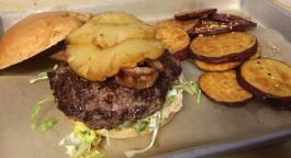 Walt's Aloha Burger with Sweet Potatoes