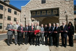 Ribbon Cutting with the Dunwoody Chamber, city officials and the Berman Commons project team