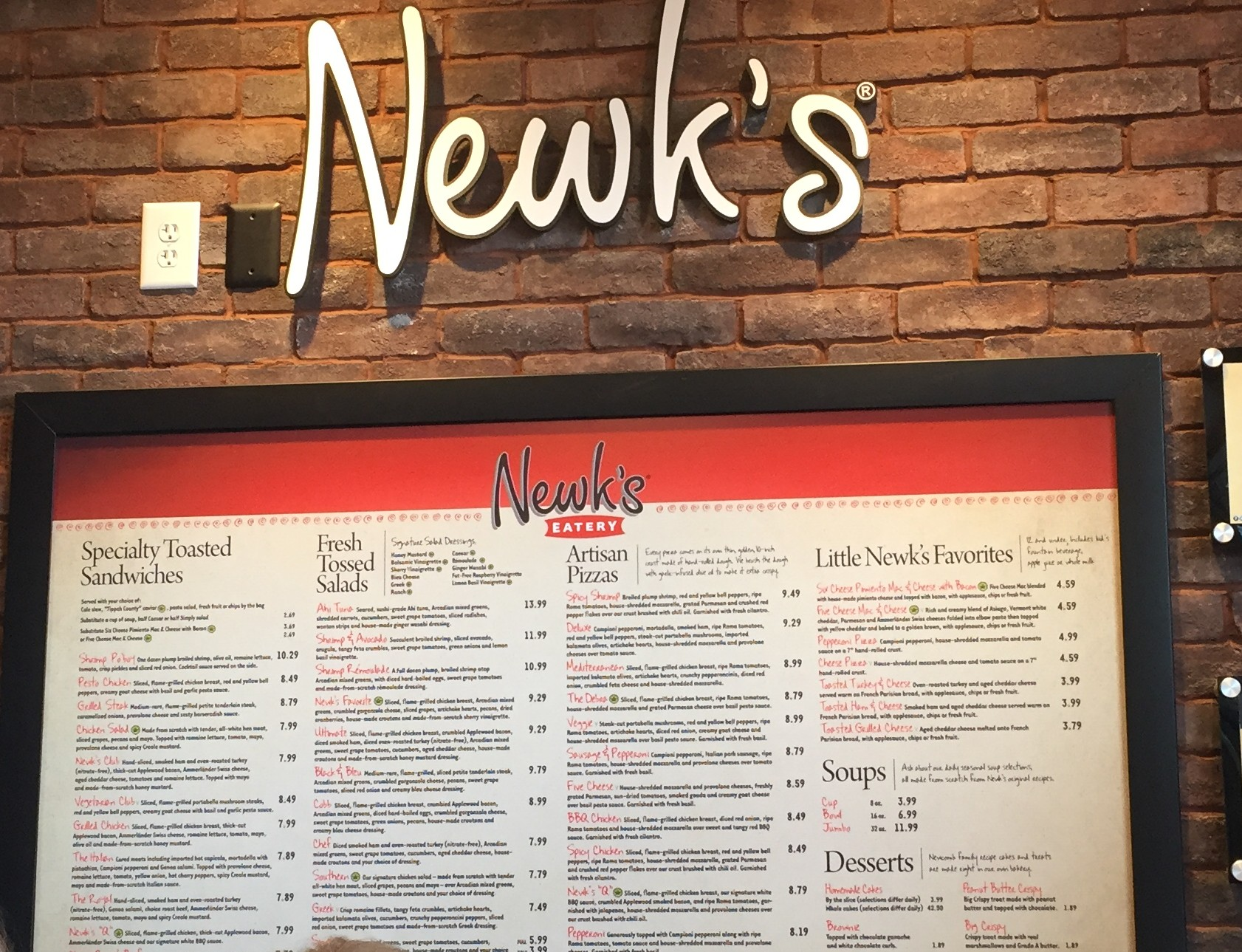 photo regarding Newks Printable Menu named Pattys Foodie Frenzy: Newks Eatery by now within just DUNWOODY! - The