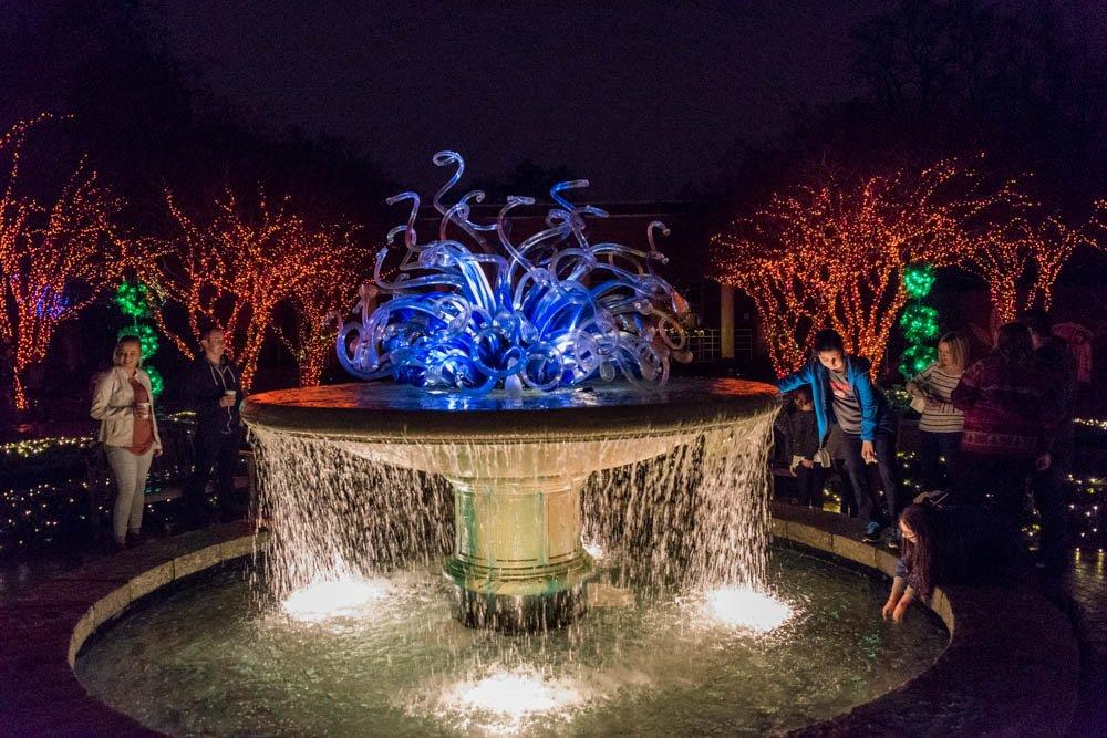 Garden lights holiday nights at the atlanta botanical for Holiday lights botanical gardens
