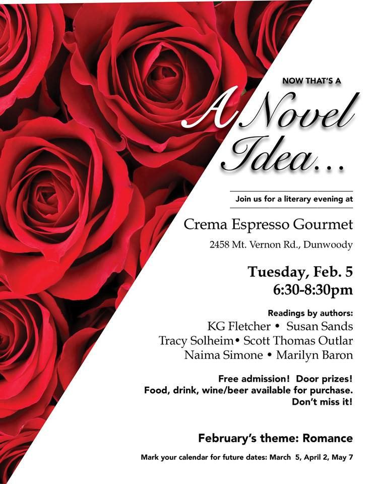A Novel Idea at Crema - Romance Night!
