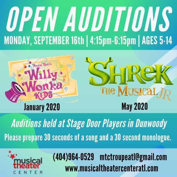 Musical Theater Center - Open Auditions!