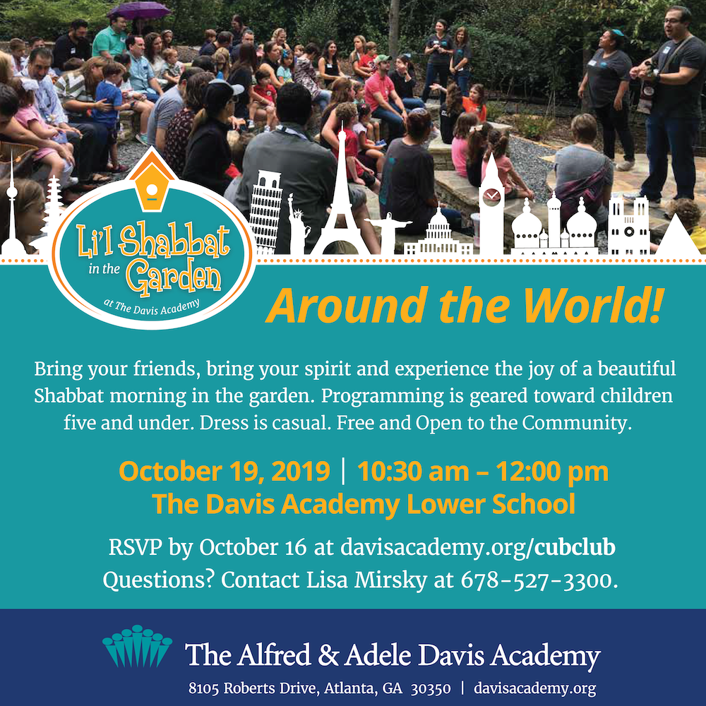 The Davis Academy L'il Shabbat in the Garden - October 19 at 10:30 a.m.!