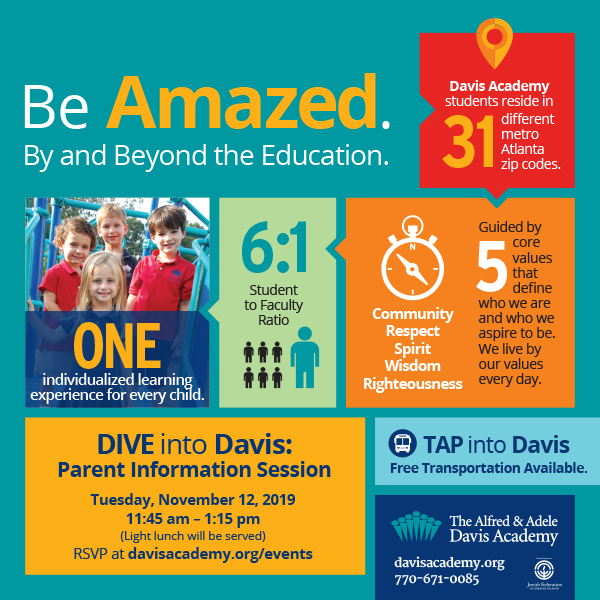 The Davis Academy - Parent Information Session on November 12!