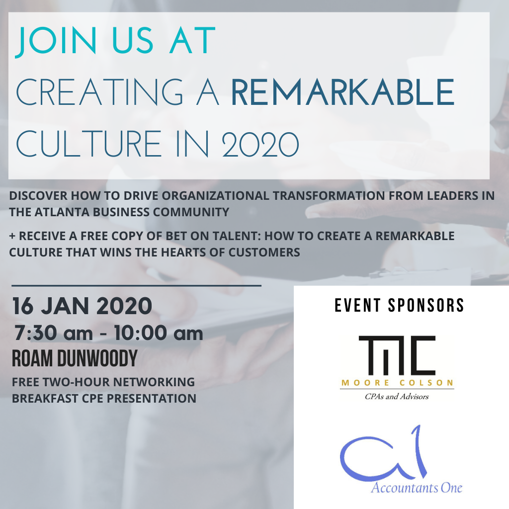 Free Leadership Program: Creating a Remarkable Culture in 2020