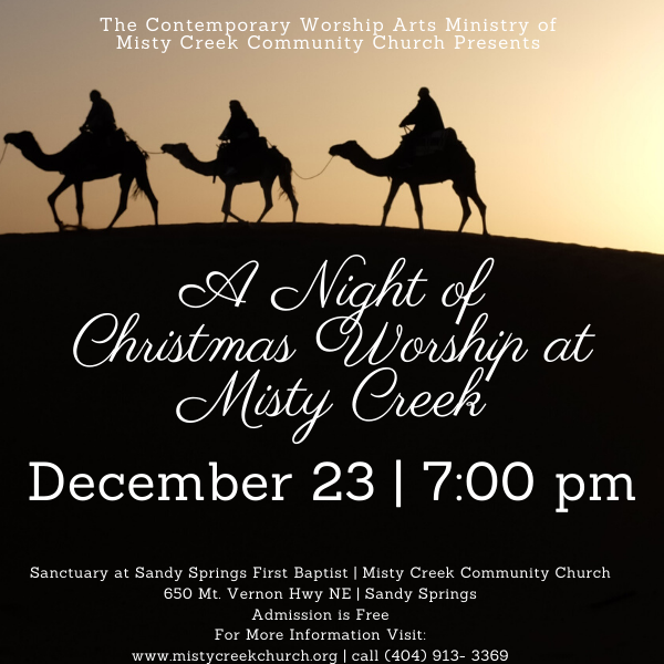 A Night of Christmas Worship at Misty Creek - December 23 at 7:00 pm!