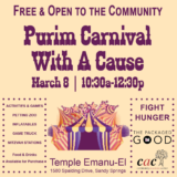 Temple Emanu-El Presents Purim Carnival with a Cause!
