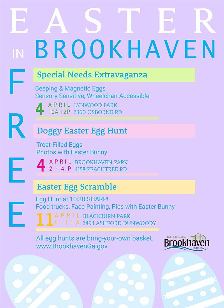 Brookhaven Easter Egg Scramble on April 11