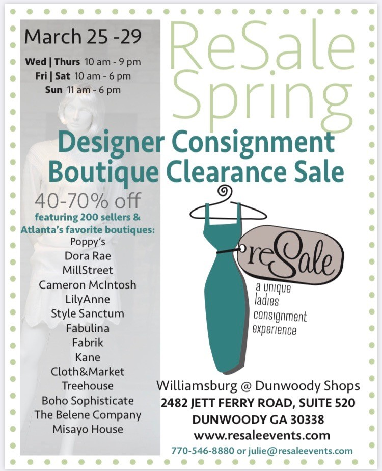 ReSale Spring Consignment Event