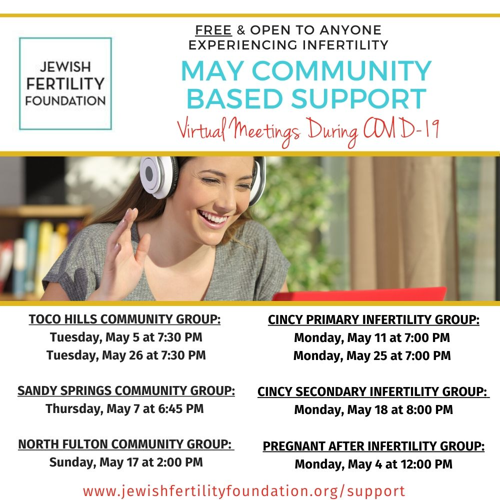 Jewish Fertility Foundation Virtual Support Group- Toco Hills