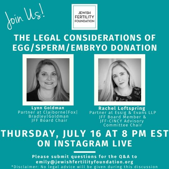 Instagram Live: The Legal Considerations of Egg/Sperm/Embryo Donation