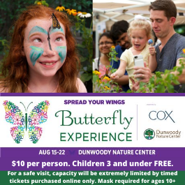 Dunwoody Nature Center's Butterfly Experience