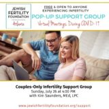 Jewish Fertility Foundation Virtual COUPLES Infertility Support Group