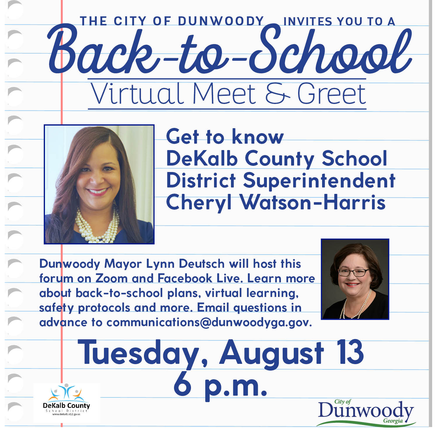 Virtual Meet-and-Greet with DeKalb County School District Superintendent