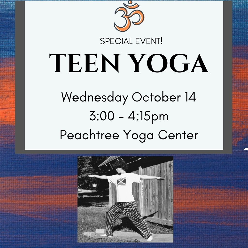 Teen Yoga: Socially distanced, 75-minute beginner-level yoga experience just for teens!