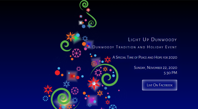 Light Up Dunwoody is Online for 2020!