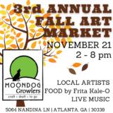 The Art Market - Saturday, November 21 at Moondog Growlers!