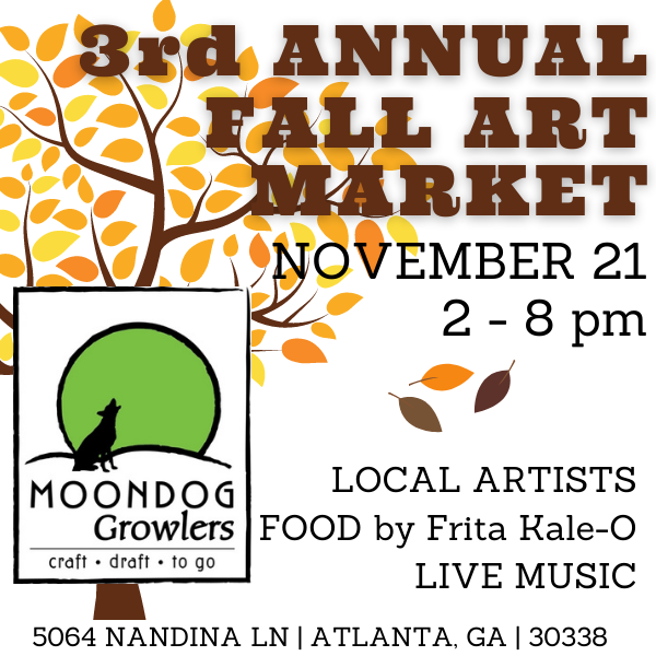 The Art Market - Saturday, November 21 at Moondog Growlers!