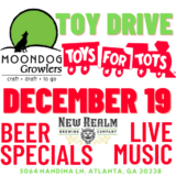 Moondog Growlers Toys for Tots - December 19 from 2-9pm!