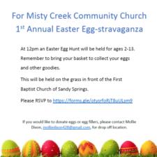 Misty Creek Community Church Easter Egg Hunt Eggstravaganza